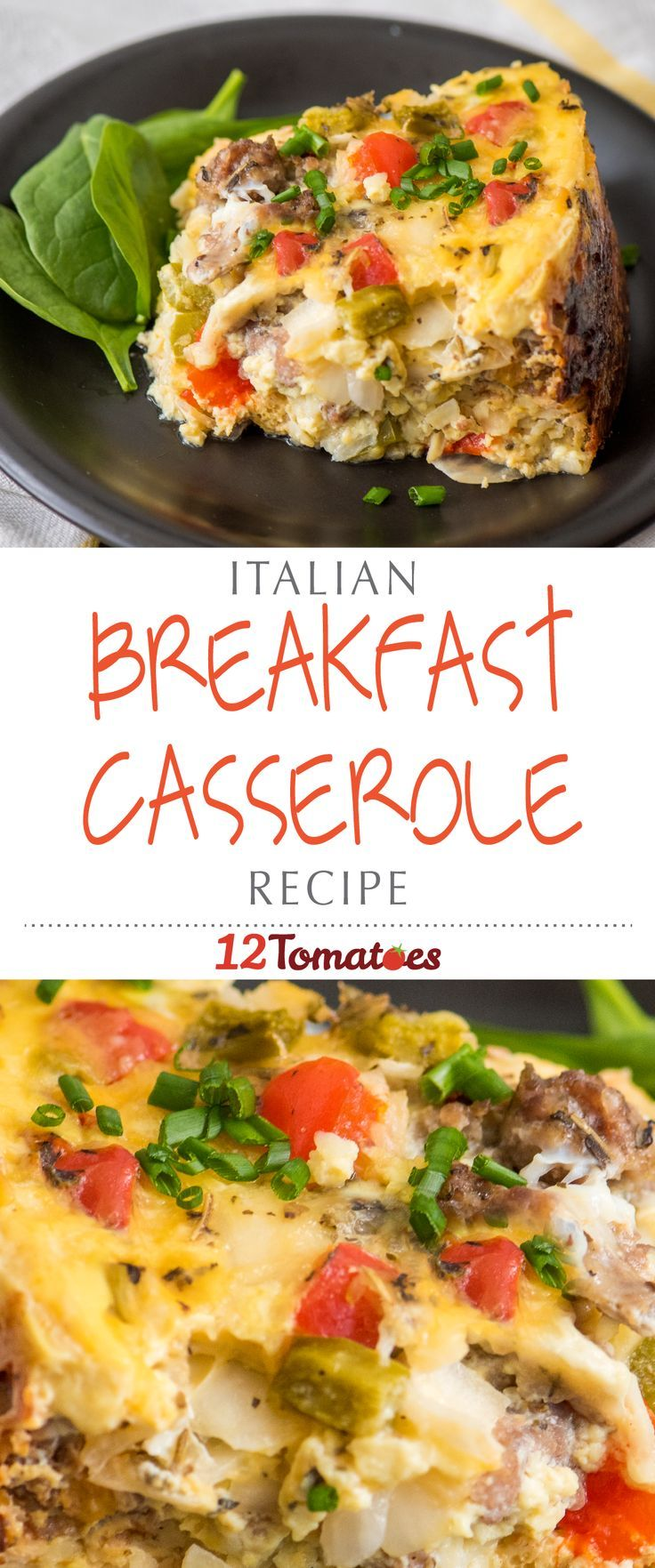 Slow Cooker Italian Breakfast Casserole | Packed with morning staples like hash browns, eggs, sausage, and cheese, our whole family loves this dish on the weekend.