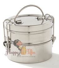 Indian stainless steel lunch boxes from Happy Tiffin.