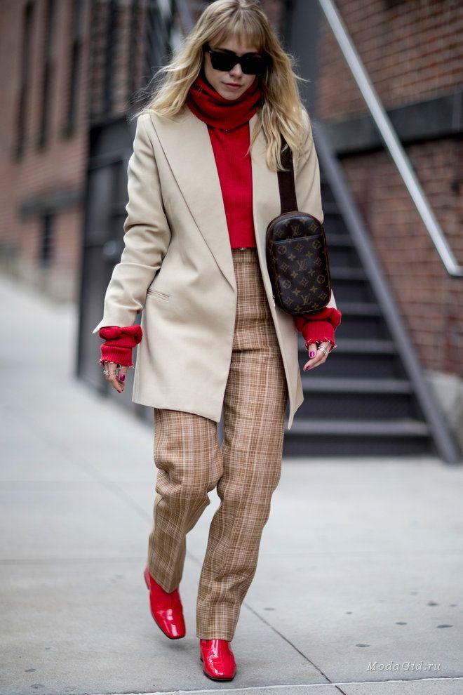 Уличная мода  Неделя моды в Нью-Йорке сезона осень-зима 2018-2019  уличный  стиль 85d44739640