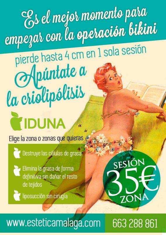 Próximas sesiones de #Criolipólisis