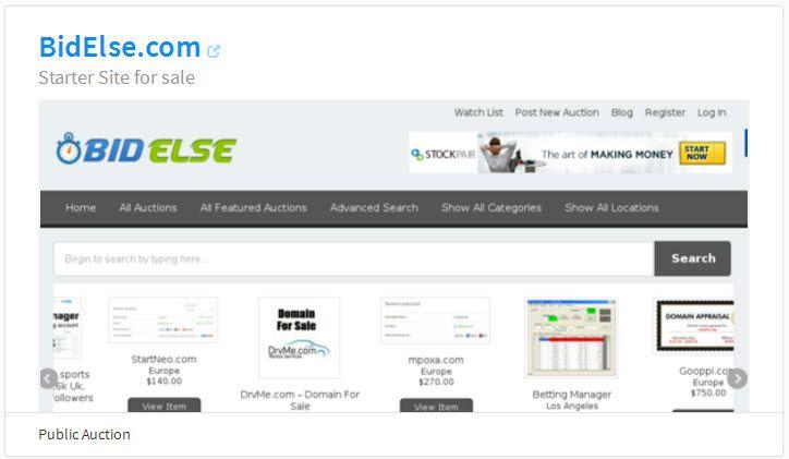 BidElse.com Website is for sale. A Different Auction Marketplace With Services, Domains, Websites etc https://flippa.com/6243888-bidelse-com