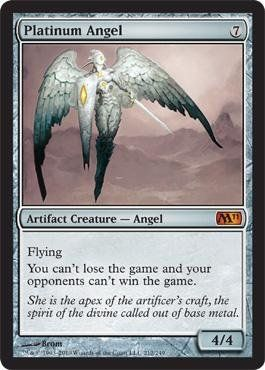 Magic: the Gathering - Platinum Angel - Magic 2011 $3.69