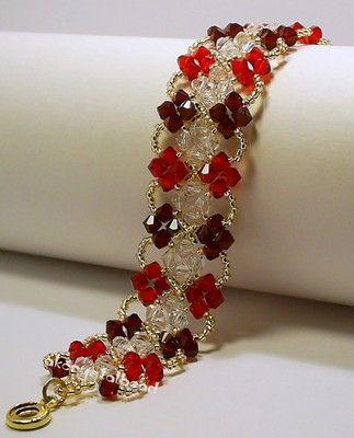 Red & Clear Swarovski Crystal Bracelet