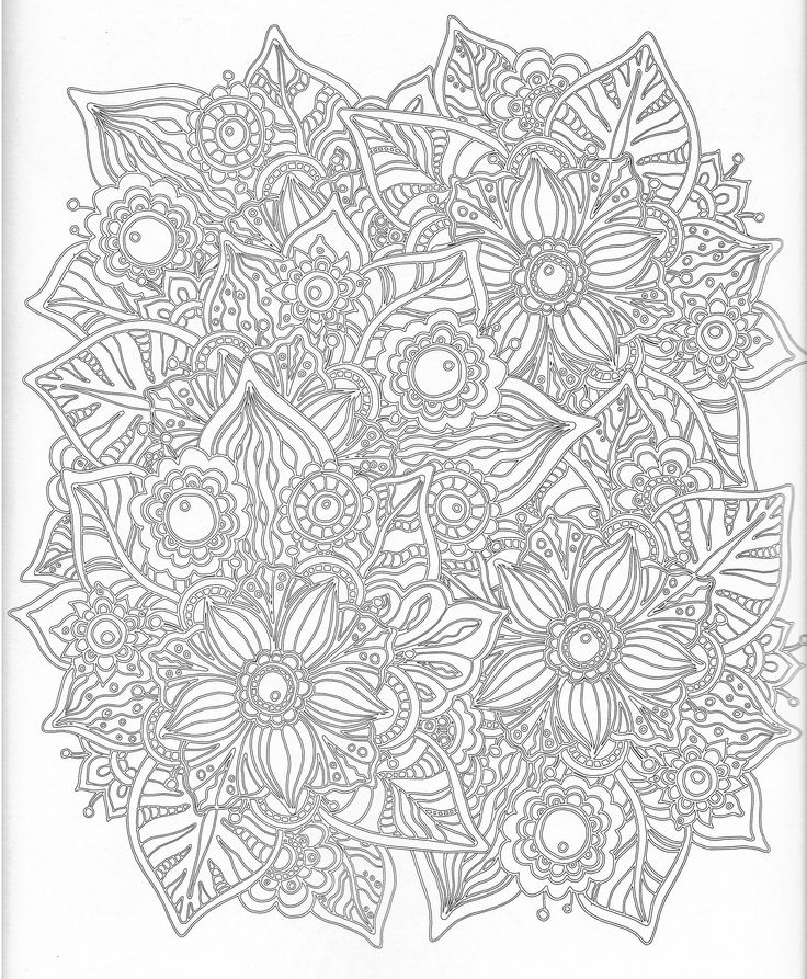 488 best Color pages, Stencils, Templates, Patterns images on - new difficult pattern coloring pages