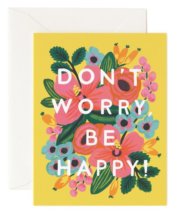 Don't Worry Be Happy card by Rifle Paper Co. coming soon to Northlight