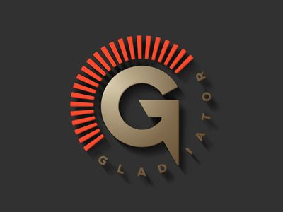 Gladiator Branding and Logo Design Pinterest Logo design