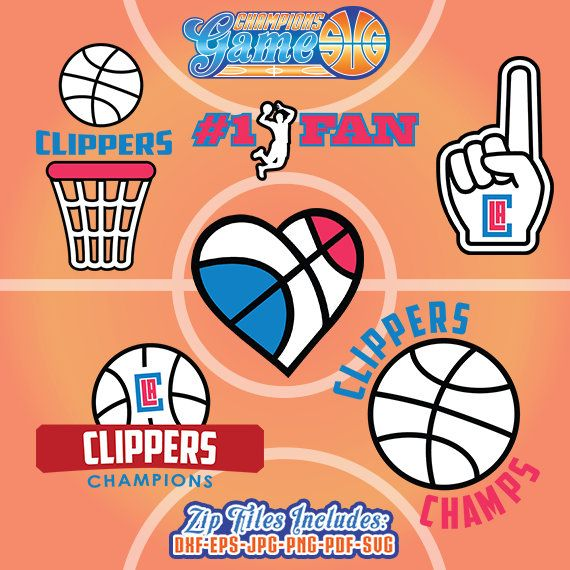 Los Angeles Clippers SVG, archivo Clippers baloncesto, Los Angeles Clippers monograma, descarga inmediata de baloncesto, CG013