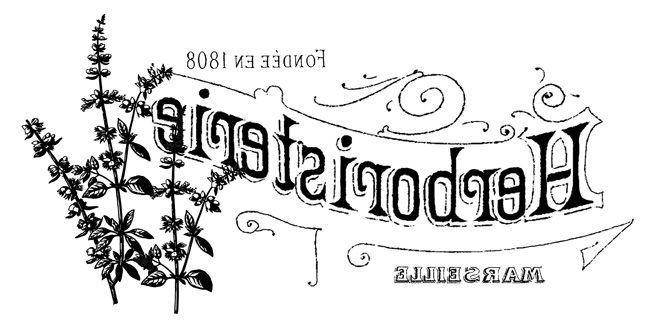 French Herbal Shop Transfer - The Graphics Fairy / reversed for transfer methods