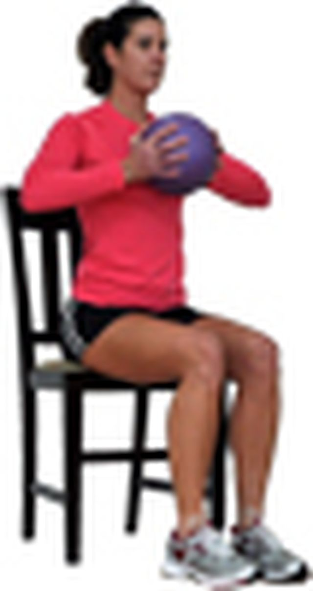how to use an exercise ball as a chair