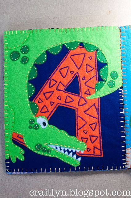 A is for Alligator page