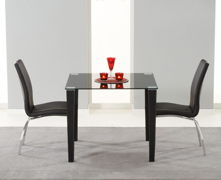 glass kitchen table sets for the pair to make it look romantic