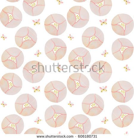 watercolor, pattern, flower