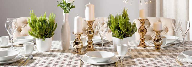 Tablecloth from the new Scandinavian style inspired Christmas collection by Dekoria.