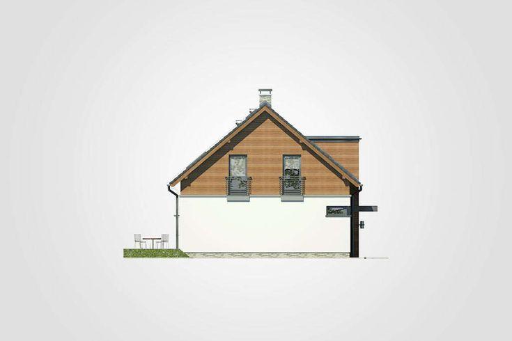 Projekt domu Polo - widok elewacji 4