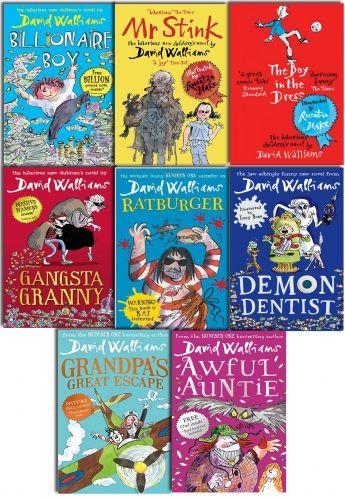 David Walliams 8 Books Collection Set Grandpa Great Escape, Billionaire Boy, Mr Stink, The Boy in the Dress, Gansta Granny, Rat burger, Demon Dentist by David Walliams  #DavidWalliams #David #Walliams #Book #ChildrensBook   http://www.snazal.com/david-walliams-8-books-collection-set-grandpa-great-escape-b--DEALMAN-U11-DW-8bks.html