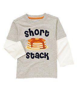 Short Stack Pancakes Double Sleeve Tee... need to remove white sleeves and add an over shirt or undershirt.