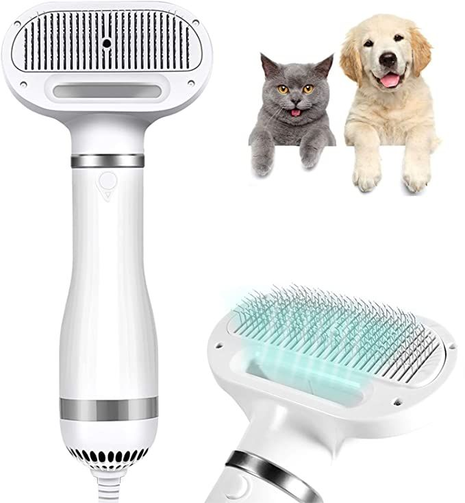 Amazon Com Masaling Dogs Hair Dryer Brush 2 In 1 Newest 2021 Quiet 3 Heat Settings Dog Dryer With Slicker Br Dog Grooming Dryer Dog Hair Dryer Grooming Dryer