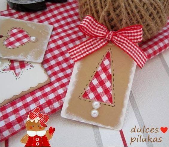 Etiquetas navidad. ✿Teresa Restegui http://www.pinterest.com/teretegui/✿