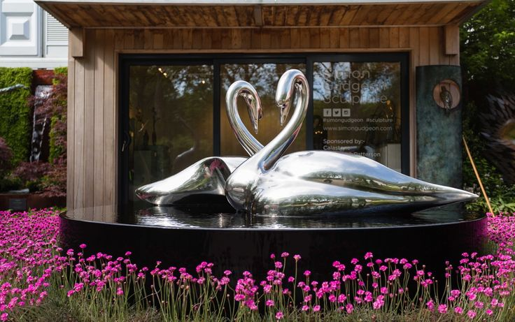 Silver Swans by Simon Gudgeon www.simongudgeon.com