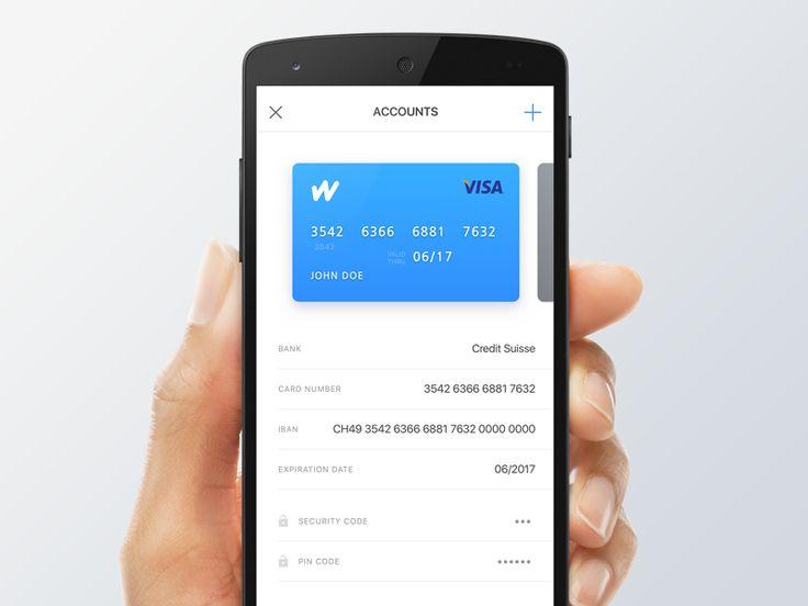 Finance app account by Miklos Barton