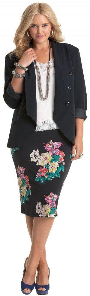 Floral Skirt & Blazer