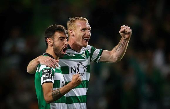 Sporting vence Tondela por 2-0 como golos de Jeremy Mathieu e Bruno Fernandes