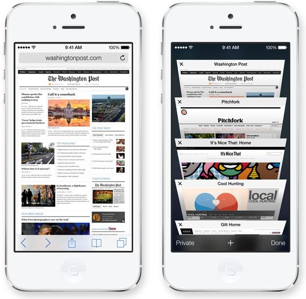 iOS 7 - Safari