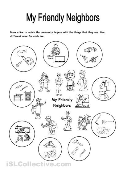 This Worksheet Focuses On The Community Helpers And Things ...