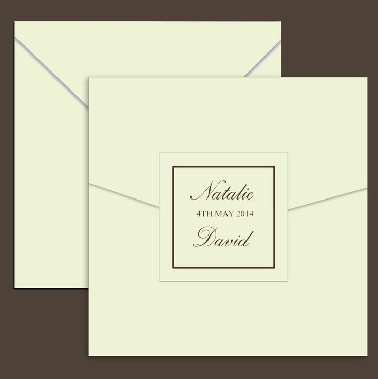 Sample Printed Ivory Pearlescent Pocketfold Pocket Fold Wedding Invitations