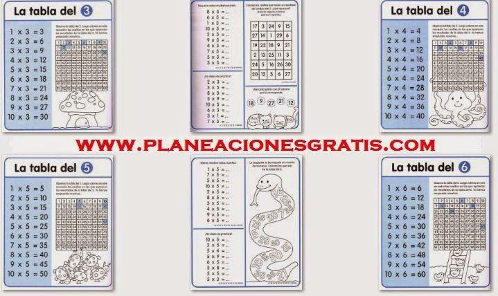 Las Tablas de Multiplicar - Cuaderno de Ejercicios | Planeaciones Gratis