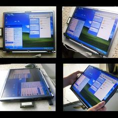 How to make a touch screen tablet from an old laptop