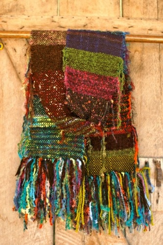SOLD - Carnival Ride Scarf/Wrap or Bed Scarf