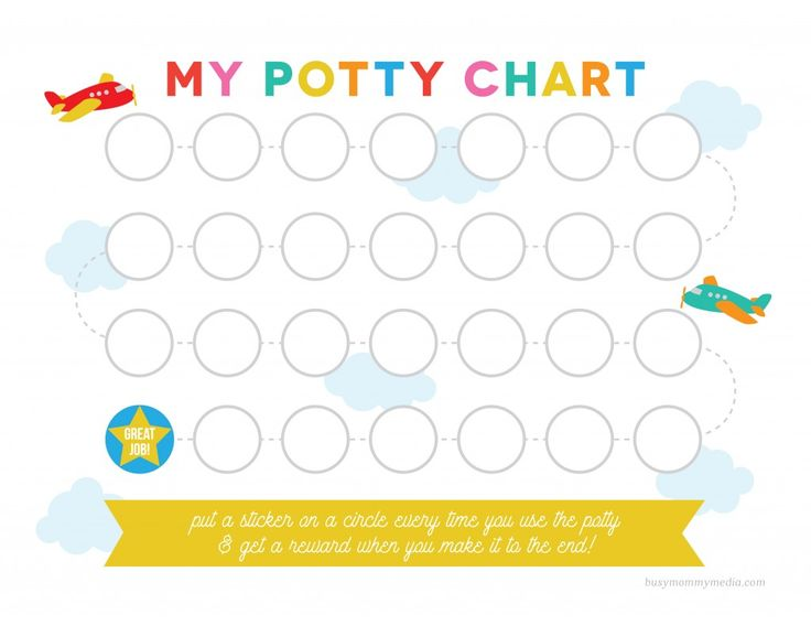 This free printable potty training chart is a great way for kids to visually keep track of their potty training success.