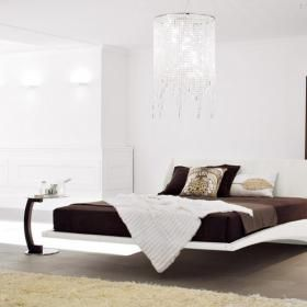 Włoskie meble do sypialni Dylan. Łóżko, sypialnia