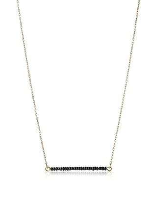 29% OFF Kate Spade Saturday Black Seed Bead Bar Necklace