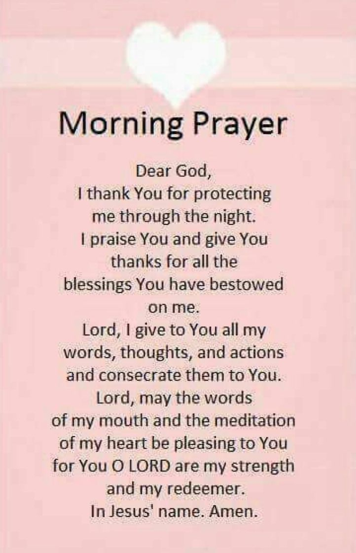 Morning Prayer. Amen...Mildred Williams