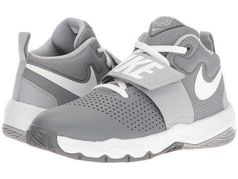 603f146780 Nike Kids Team Hustle D8 (Big Kid) Boys Shoes Cool Grey/Wolf Grey ...