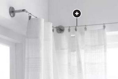 Ikea Wire Curtain System Home Farmhouse Pinterest