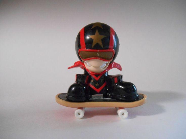 2001 X-Concepts Tech Deck Dudes Crash Daredevil Figure w Skateboard Loose 2in.  #TechDeck