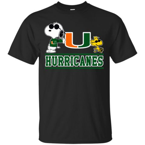 Miami (FL) Hurricanes T shirts Snoopy Hoodies Sweatshirts