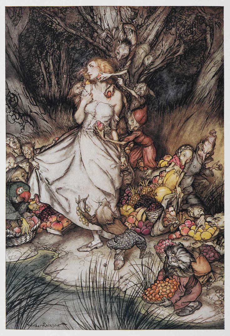 Goblin Market by Christina Rossetti   Illustrated by Arthur Rackham   1933   British Library   Shelfmark: 11643.cc.64