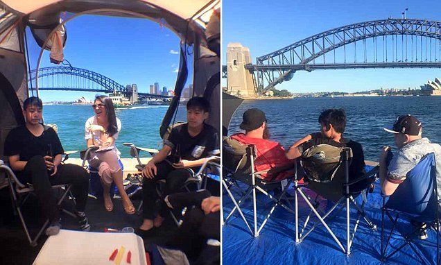 Brothers pitch a tent TWO DAYS early for New Year's Eve in Sydney