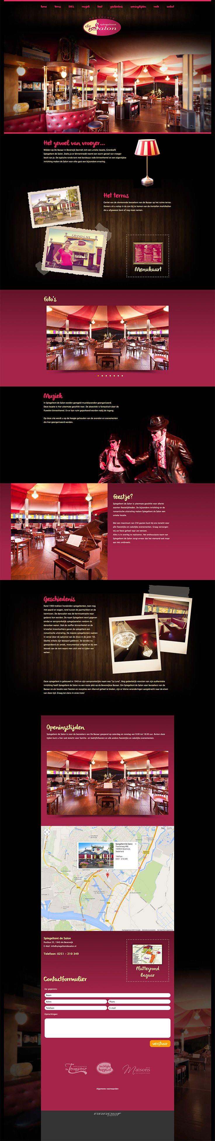 Website design voor Spiegeltent de Salon