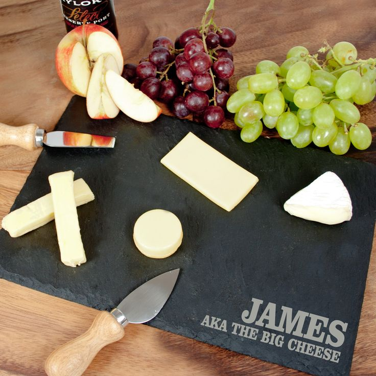Personalised Rustic Slate Cheese Board - yourgifthouse