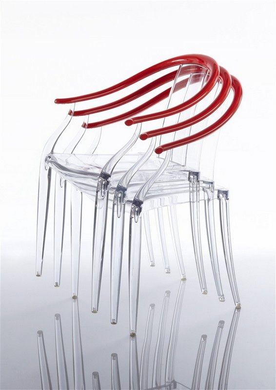 Mi Ming Chair by Philippe Starck - дизайнерские обеденные прозрачные стулья. Стулья из пластика. Уличная мебель.