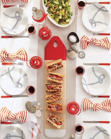 Party Menu - Looking for party food to serve alongside our nautical picks? Get our recipes for a festive Fourth!