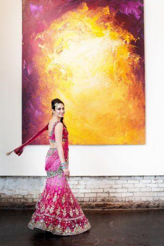 indian-weddings-indian-bride-inspiration-pink-red-lengha-3.jpg (333×500)