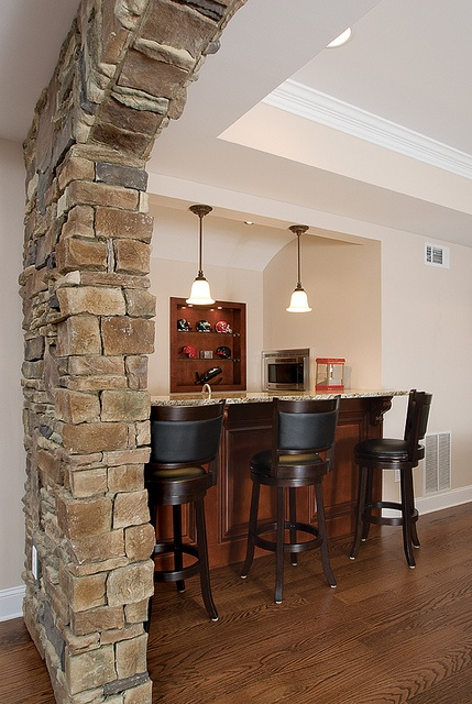 Stone Arch To Bar Renovation Basement Remodeling House
