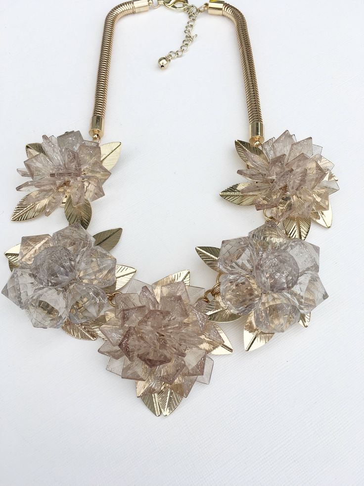Vintage 1980s Gold Tone Leaf Floral Runway Chunky Chic by MariniJewellery on Etsy https://www.etsy.com/ie/listing/563374617/vintage-1980s-gold-tone-leaf-floral