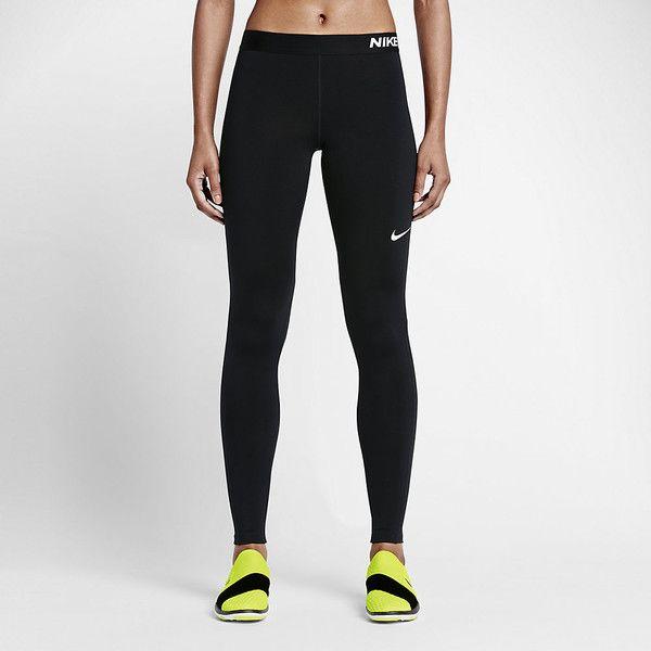 Nike Pro Warm Women's Training Tights. Nike.com ($50) via Polyvore featuring activewear, activewear pants, nike sportswear, nike, nike activewear pants and nike activewear